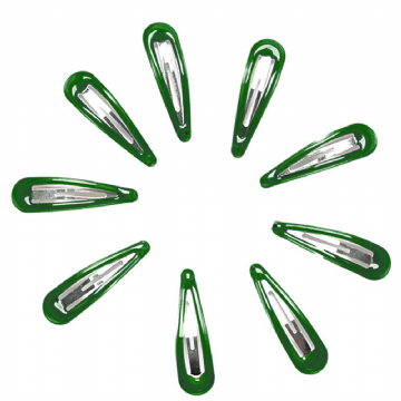 Hair Clips - Green